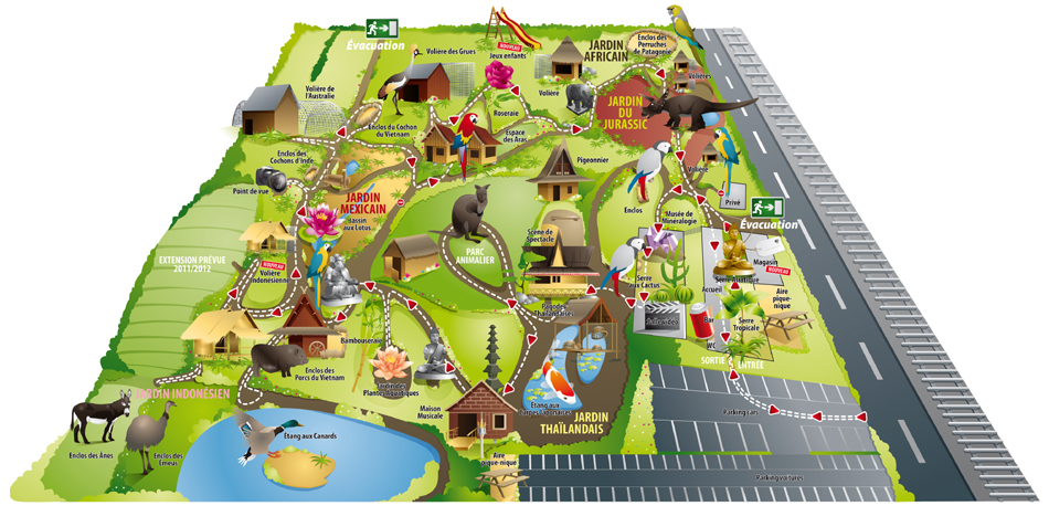Plan du parc Tropical Parc (crédit : Tropical Parc)